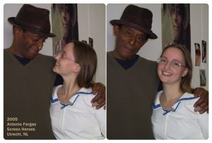 Two shots of Ilana with Antonio Fargas in 2005.