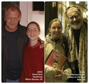 Ilana with David Soul in 2002 and Ilana with Paul Michael Glaser in 2013